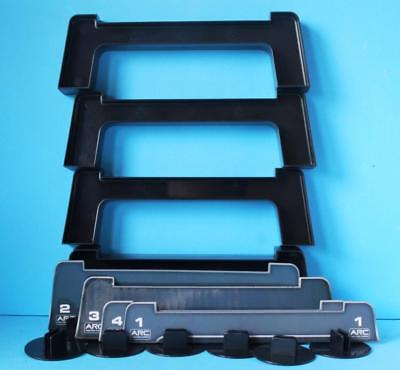 4x SCALEXTRIC TRACK SUPPORTS FLYOVER from ARC SET with INCLINE TRACK SUPPORTS