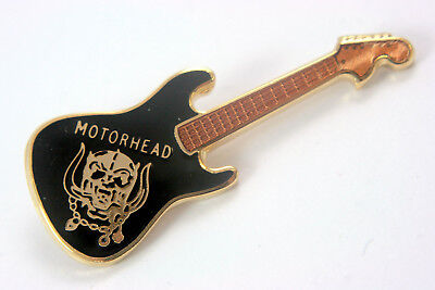 MOTORHEAD 'Warpig' Guitar Shaped Enamelled Metal Lapel Badge