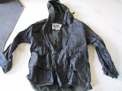 Mens XL Lewis Creek waxed hunting coat jacket, mesh lined, hood, vented in back