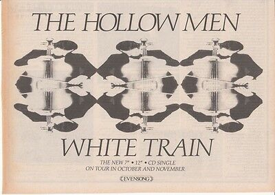 HOLLOW MEN : White Train -NEWSPAPER ADVERT- 1989