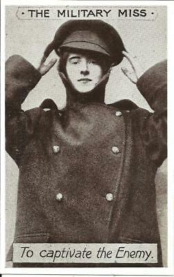 "WW1 ""THE MILITARY MISS"" GIRL DRESSED IN SOLDIERS UNIFORM (PRINTED) c1915"