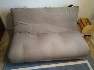 Futon Company sofa bed c/w base and mattress- Double sized bed when opened out