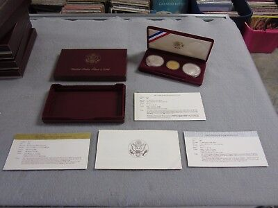 Olympic 3 Coin 1984 Proof Set -  1983 $10 Gold -  &  Two (2) 1984 Silver Dollars