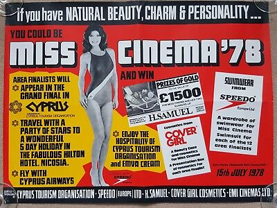 Original 1970's MISS CINEMA 1978 EMI Film Cinema Promotional Poster X 4