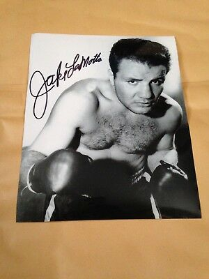 Jake LaMotta Signed photo FULL AUTOGRAPH RARE with Authenticity  PLEASE LOOK