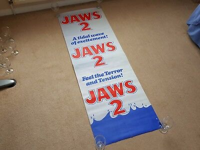 Original 1970's JAWS 2 Long Promotional Cinema Film / Movie Poster