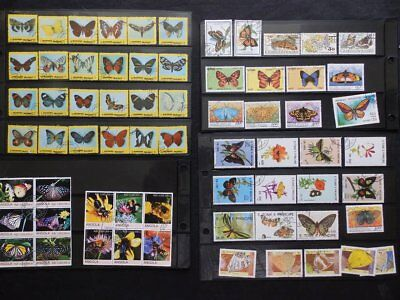 """Butterfly & Insects"""" Used Thematic Stamp Collection With Over 130 Used Stamps"""