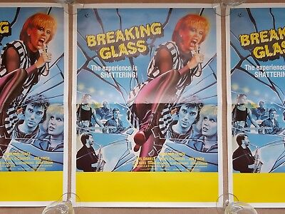 Original 1980's BREAKING GLASS Hazel O'Connor Cinema Film / Movie Posters x 3