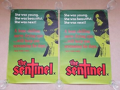 Original 1977 THE SENTINEL Horror Cinema Film / Movie Posters x 2