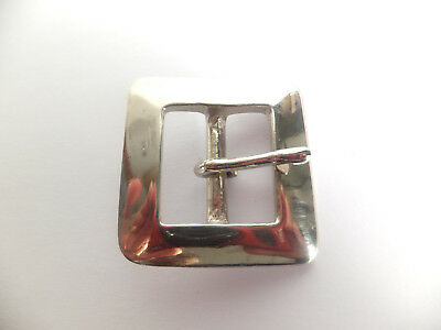 """HEAVY DUTY NICKEL [ 1"""" - 25 mm ] FULL SQUARE BELT BUCKLE Leather craft"""