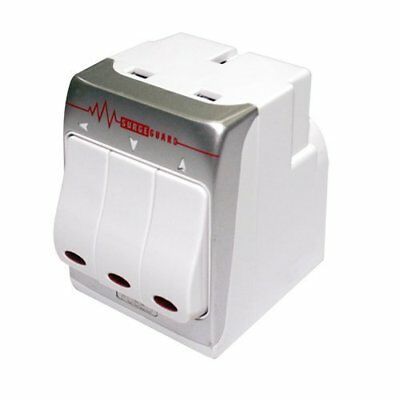 Masterplug 3-Way Surge Protected Power Socket Adapter (White)