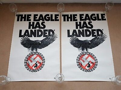 Original 1977 THE EAGLE HAS LANDED Cinema Film / Movie Posters x 2
