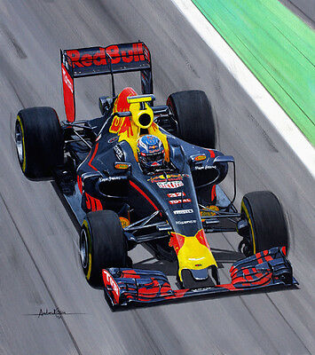 Max Verstappen Original Painting by Andrew Kitson