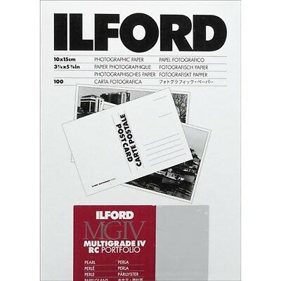 "Ilford Multigrade IV RC Portfolio Postcard Paper 4x6"" Pearl 100 Sheet (1856084)"