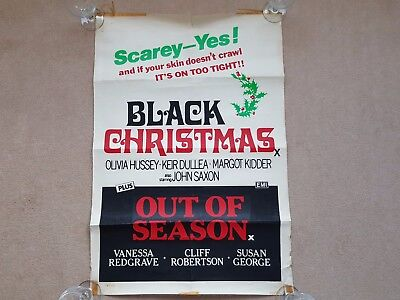 Original 1974 BLACK CHRISTMAS Horror Cinema Film / Movie Poster (TYPE A) EMI