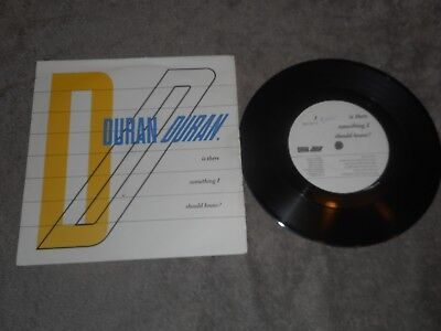 "Duran Duran - Is There Something I Should Know  7"" Single Record"