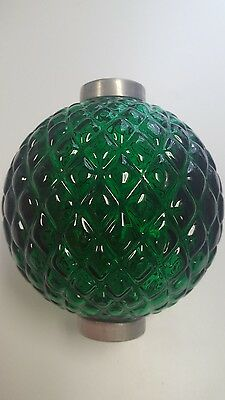 Beautiful Dark Green Flat Quilt Lightning Rod Ball Dated 2009