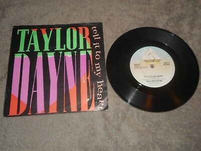 "Taylor Dayne - Tell It To My Heart 7"" Single Record"