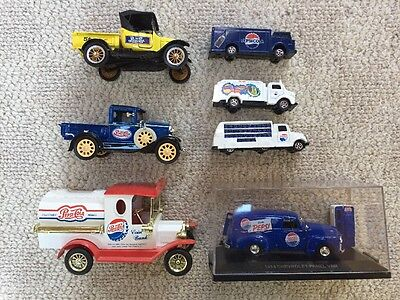 PEPSI diecast truck LOT OF 7 Misc Trucks National Motor Museum 1931 Ford Model A