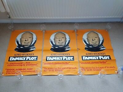 Original 1976 FAMILY PLOT Alfred Hitchcock Cinema Film / Movie Poster X 3