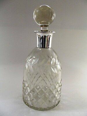 Crystal Decanter With Silver Mount Birmingham 1950 Ref 194/17