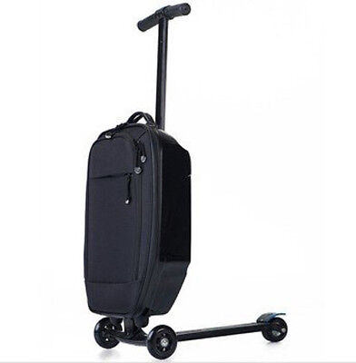Scooter Luggage Carry Onboard Suitcase - Cabin Approved Baggage (BLACK)