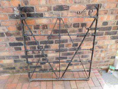 Large very old heavy metal georgian gate and brackets