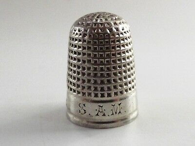 Antique Silver Thimble Chester 1890 Ref 636/4
