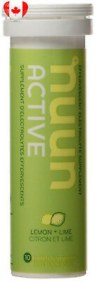 Nuun Active Hydrating Electrolyte Tablets, Lemon Lime, 4 count