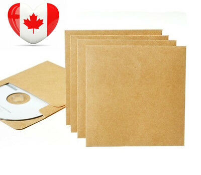 100 Pieces Blank Kraft CD DVD Paper Sleeves Envelope from Ocharzy