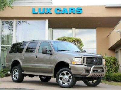 2003 Ford Excursion Limited Sport Utility 4-Door 2003 Ford 4wd Limited Diesel Rear DVD