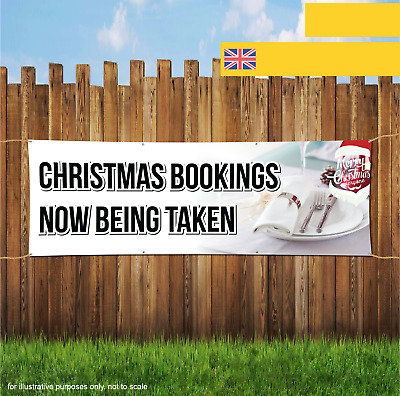 CHRISTMAS BOOKINGS NOW BEING TAKEN XMAS Outdoor Heavy Duty PVC  Banner Sign 2056