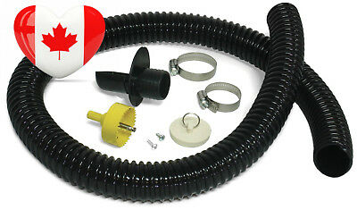 Algreen Products 81052 Rain Barrel Deluxe Diverter Kit Black