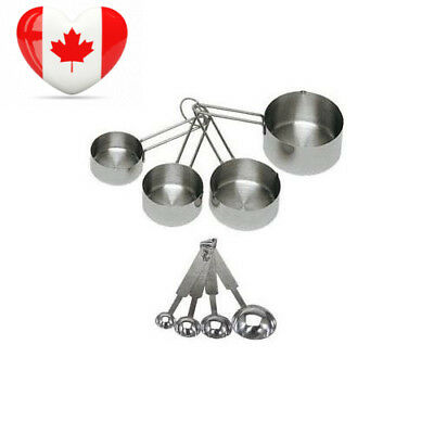 ChefLand 8-Piece Deluxe Stainless Steel Measuring Cups and Spoon Set, Ideal...