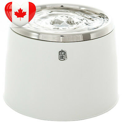 Catit Fresh and Clear Stainless Steel Top Drinking Fountain, 64-Fluid-Ounce