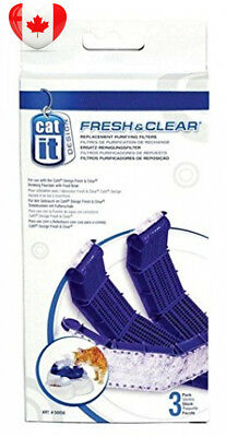 Catit Drinking Fountain Replacement Carbon Filter Cartridge for Fresh and...