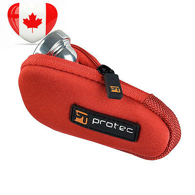 Protec Trumpet Neoprene Mouthpiece Pouch, Red