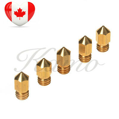 Kamo 5PCS 3D Printer 0.4mm Extruder Brass Nozzle Print Head for MK8 1.75mm...