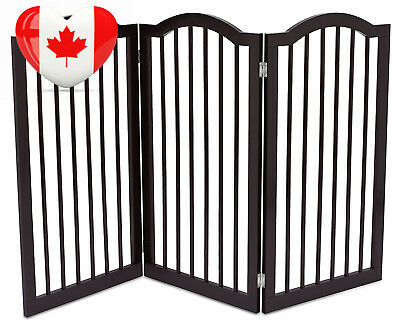 Internet's Best Dog Gate with Arched Top (91 CM Tall Height, 3 Panel-Espresso)