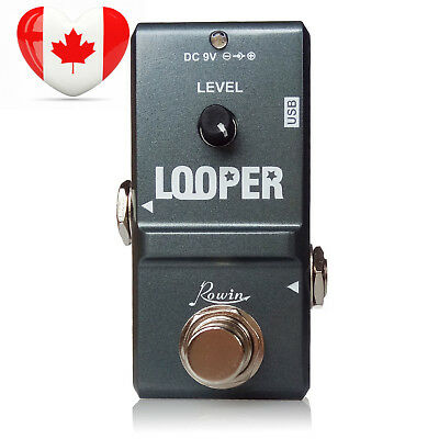 Rowin Tiny Looper Effects Pedals for Guitar 10 Minutes of Looping Unlimited...