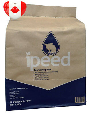 iPeed Premium Training Pads for Puppies and Dogs - Biodegradable 50-pack