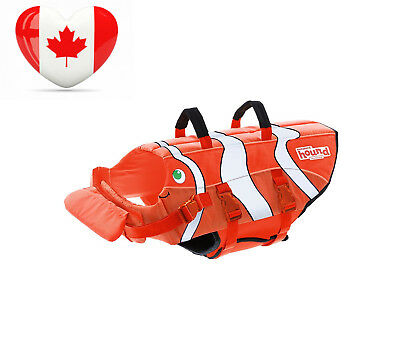 Outward Hound Kyjen 22038 Fun Fish Life-Jacket Dog Life Preserver, X-Small,...