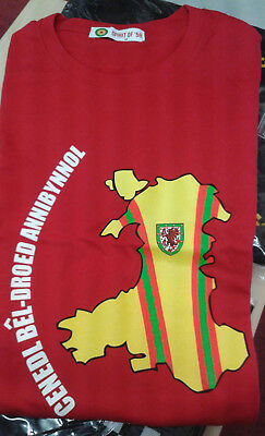 Wales football Spirit of 58 Independent Football Nation t-shirt MEDIUM RED