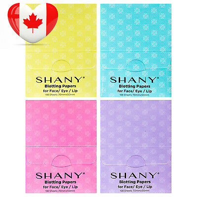 SHANY On-the-go Oil Blotting Papers- Set of Four with 100 Super Absorbent...