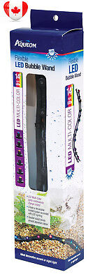 Aqueon Multi-Color Flexible LED Bubble Wand Aquarium Light, 14-Inch