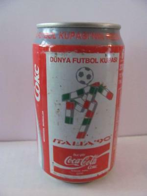 1990 12? Oz Coca Cola Can Soccer FIFA World Cup Italy From TURKEY Full Contents