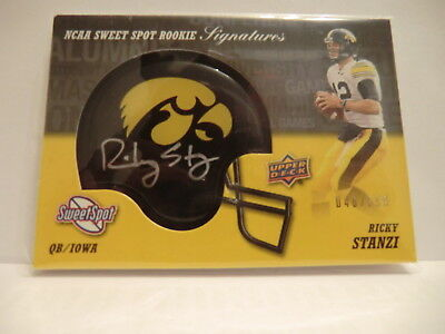 Upper Deck Sweet Spot 2011 Rookie Signature #RS Ricky Stanzi #/599 QB