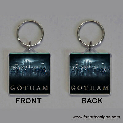 Gotham - David Mazouz - Robin Lord Taylor - Ben Mckenzie - Cast - Photo Keychain