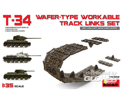 MiniArt 35207 T-34 Wafer-Type Workable Track Links Set in 1:35