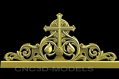 3D Model STL for CNC Router Engraver Carving Artcam Aspire Religion Cross v218